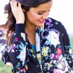 Rocking one of my favorite Jackets today!! Loving moody floralshellip